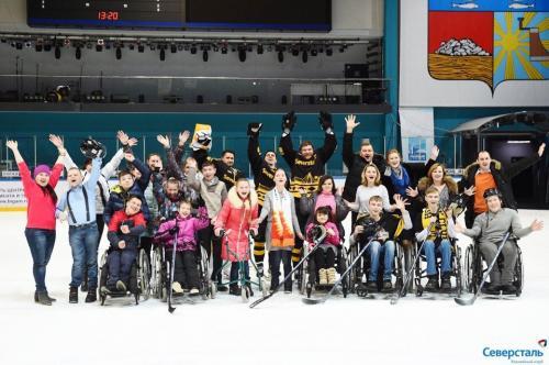Встреча воспитанников БУ СО ВО РЦ  Преодоление с хоккейным клубом Северсталь